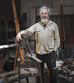 Lifetime Achievement Award winner, Stuart Elliott, who has been selected as the next sculptor to develop a series of human figure focused works for The Syndicate. Image: Christophe Canato.