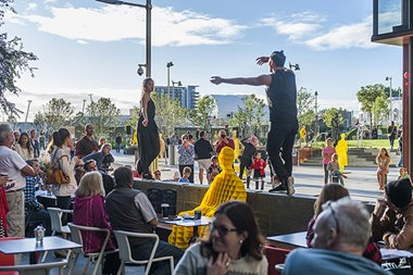 Tyrone Robinson, KS Project performed by Storm Helmore, Isabella Stone, Shuling Wong and Imanuel Dado, 2016. Kings Square Perth.