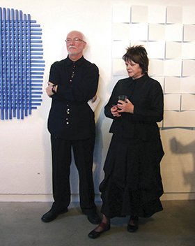 Magda and Douglas Sheerer at the Galerie Düsseldorf 30th anniversary exhibition, in 2006.