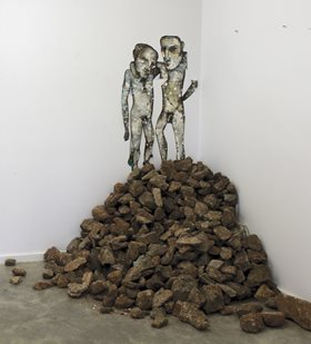 Antony Muia, Stockpile, 2013. Mixed media, dimensions variable. Image: Jacob