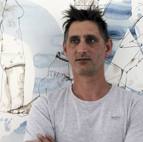 Antony Muia in his studio, 2013. Image: Toby