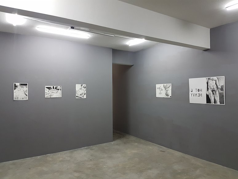 Dan Gladden, Untitled drawings at Grey Projects (installation view), Global City Residency Singapore, 2018. Image courtesy of the artist.