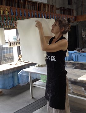 Claire Beausein, Awagami Factory Summer Workshop and Residency 2015