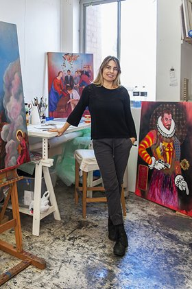 Marcia Espinosa in her Artsource Fremantle Studio, 2015. Photographer: Christophe Canato
