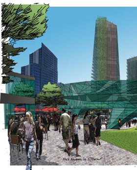 artist impression of the City Square. Source: MRA Perth City Link Public Art Strategy