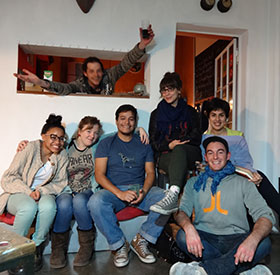 Sebastian Befumo with friends at Residencia Corazón, 2014. Image courtes of artist