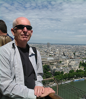 Trevor Richards in Paris, Go Anywhere 2013 Residency. Image courtesy of artist