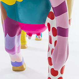 Ian de Souza, COW-MOO-FLAGE - call me FLORA, 2016. CowParade PERTH. Photographer: Christophe Canato