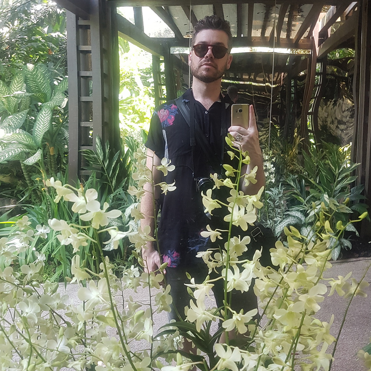 Dan Gladden, self portrait at Singapore Botanical Gardens, 2018. Image courtesy of the artist.