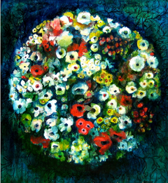 Kim Maple, Orb, 2009, 150x167cm, oil on canvas