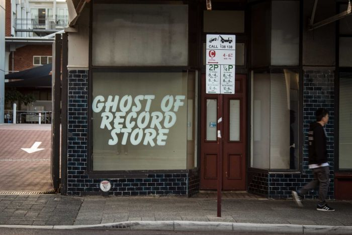 Chris Cobilis, Ghost of Record Store, Installation, 2016. Photographer: Artsource
