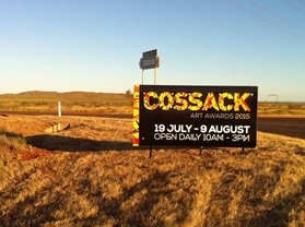 Cossack Art Awards signage. Image: Catherine Czerw