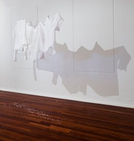 Marzena Topka, Time Punch, 2014. Shirts - dimensions variable. Photographer: Bo Wong