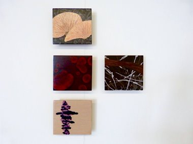 Shona McGregor, Lost in Translation #1, #2, #3 & #4, 2017, acrylic and oil on marine ply. Image courtesy of the artist.
