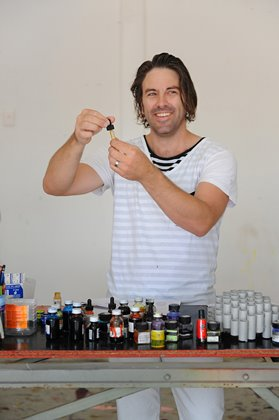 MiikGreen in his Maylands Studio, 2013. Photographer: Christophe Canato