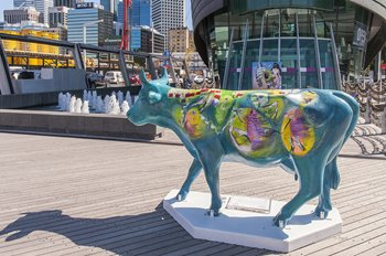 Audrey and Arif Satar, Amilita, 2016. CowParade PERTH. Photographer: Christophe Canato. Image courtesy of City of Perth, Perth Public Art Foundation and Artsource.