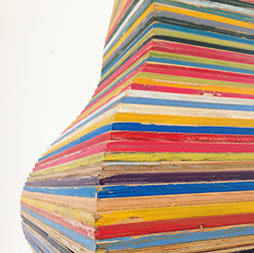 Don Walters, Ziggurat (detail), Painted Plywood, 2600 x 400 x 400mm $6,000