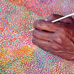 Allery Sandy at Yinjaa Barni Art Centre Roebourne WA