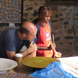 Donna Willis and Ric Spencer, Cossack Art Award 2009 Yinjaa Barni Artists in Residence, Cossack, photo: Ron Brafield